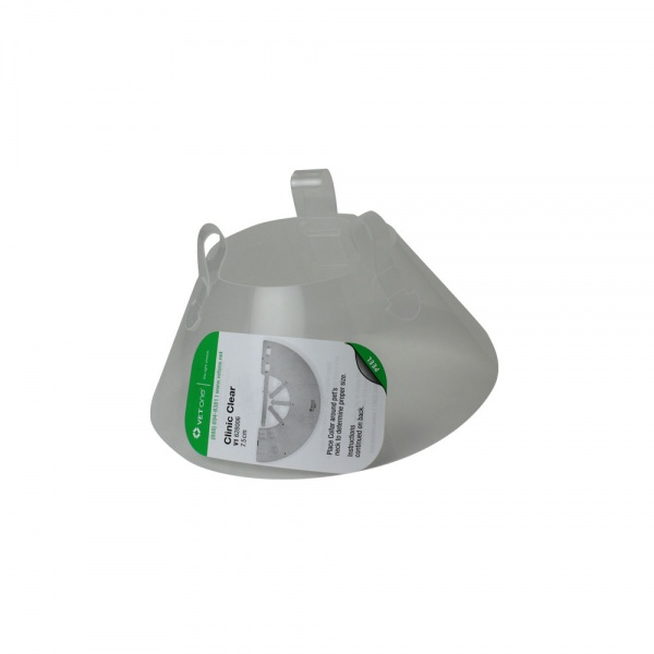"VetOne Clinic Clear Elizabethan E-Collar, 18"" - 22.25"" (30cm Depth)"