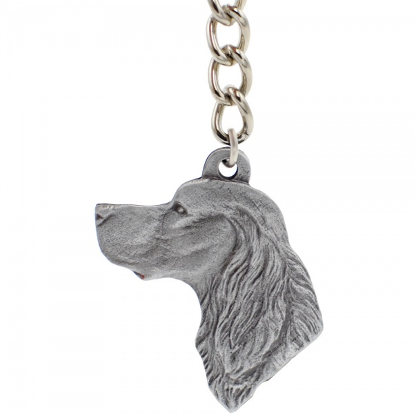 "Dog Breed Keychain USA Pewter - Gordon Setter (2.5"")"