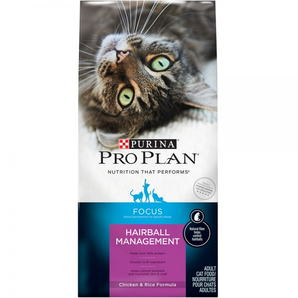 Purina Pro Plan Focus - Hairball Management Chicken & Rice Dry Adult Cat Food (7 lb)