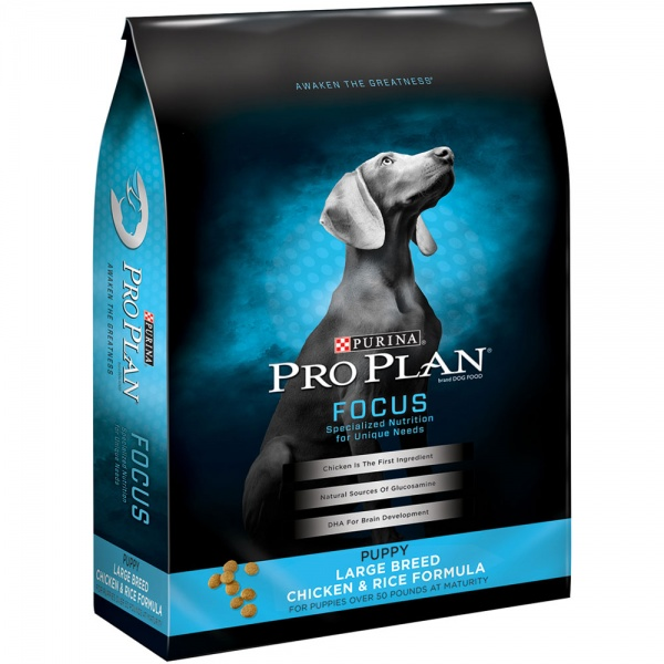 Purina Pro Plan Focus - Chicken & Rice Puppy Large Breed Dry Food (18 lb)
