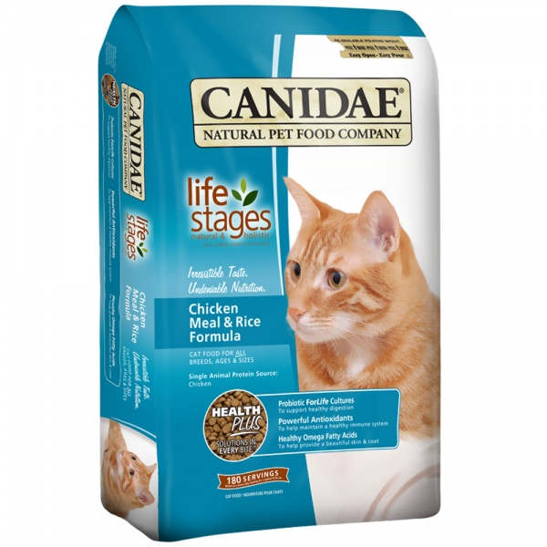 Canidae Life Stages Chicken Meal & Rice Formula Dry Cat Food (15 lb)